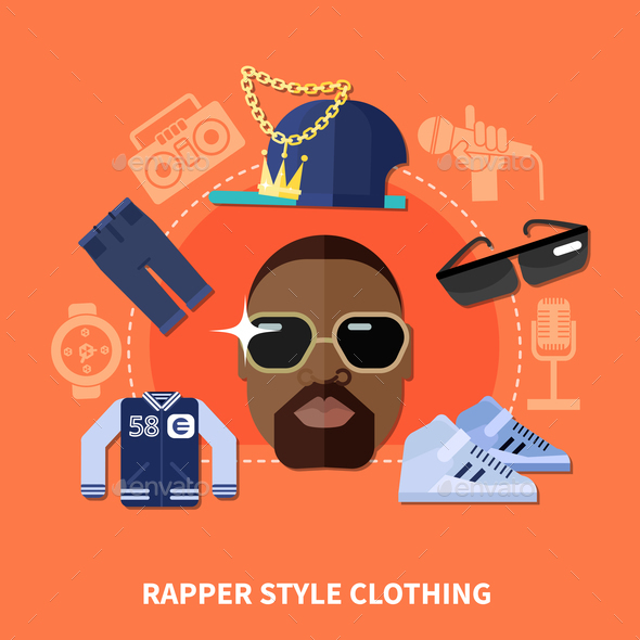 GraphicRiver Rapper Style Clothing Composition 20921315