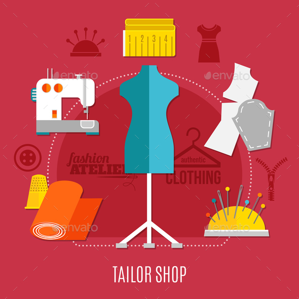 GraphicRiver Tailor Shop Concept 20921319