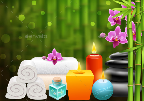 GraphicRiver Spa Bright Colorful Background 20921322