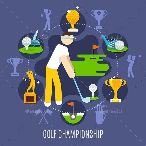 GraphicRiver Golf Championship Round Composition 20921323