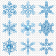 Realistic Snowflake Icon Set