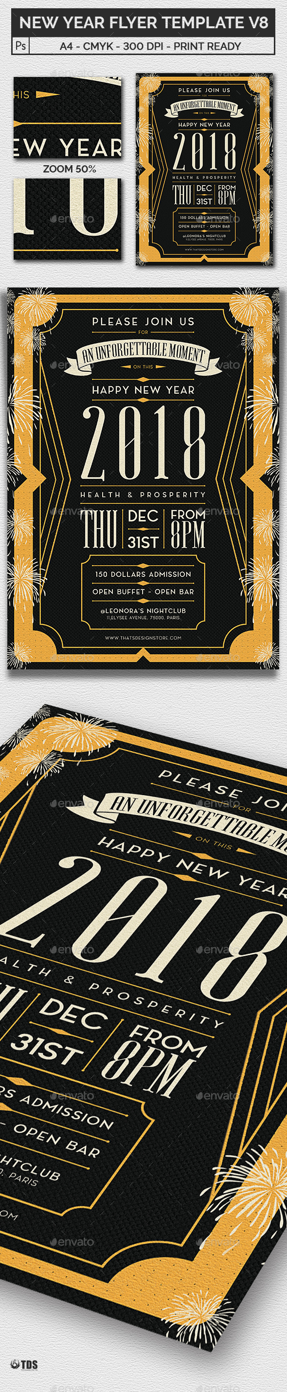 GraphicRiver New Year Flyer Template V8 20921350