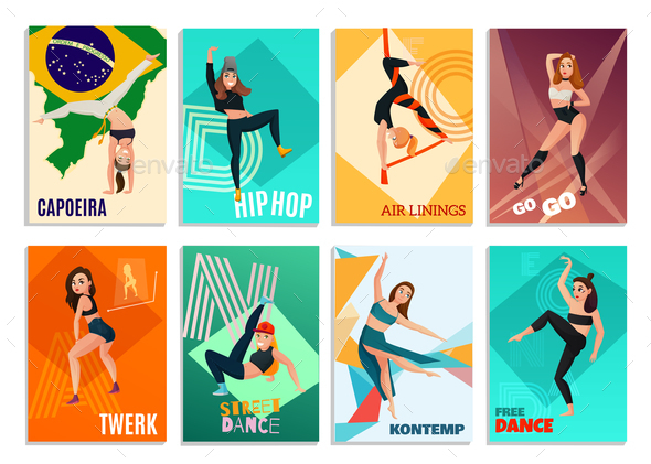 GraphicRiver Modern Dances Cards 20921361