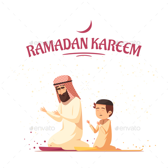 GraphicRiver Arab Muslims Ramadan Kareem Cartoon 20921374