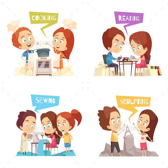 GraphicRiver Children Classes 2x2 Design Concept 20921381