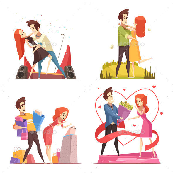 GraphicRiver Couple In Love 2x2 Design Concept 20921382