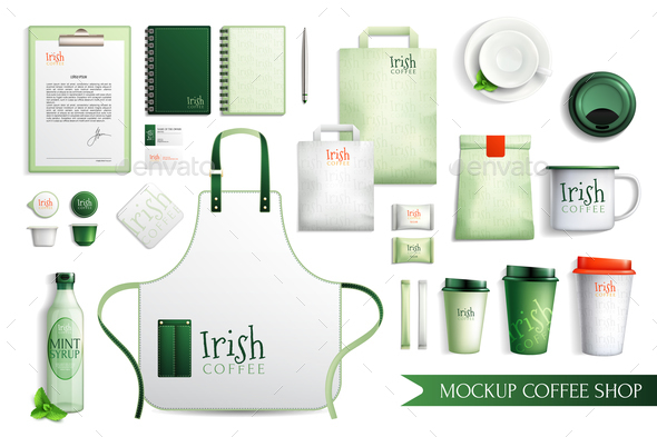 GraphicRiver Irish Coffee Merch Collection 20921387