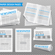 Realistic Newspaper Transparent Set - GraphicRiver Item for Sale