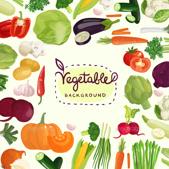 Colorful Vegetables Background - Food Objects