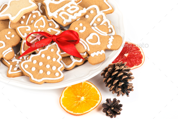 Christmas cookies with decoration - Stock Photo - Images