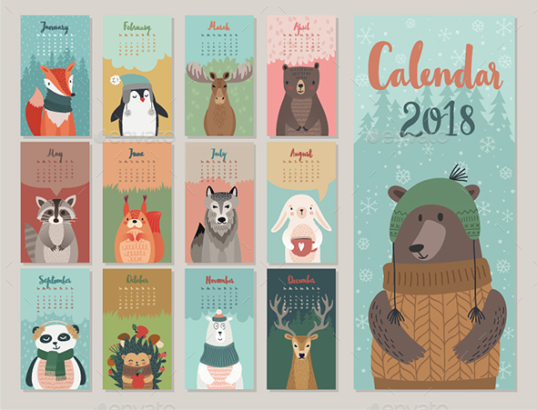Calendar 2018 - Christmas Seasons/Holidays