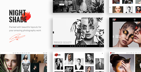 ThemeForest Nightshade A Striking Photography Portfolio Theme 20905181
