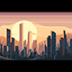 Sunrise Landscape in City - GraphicRiver Item for Sale