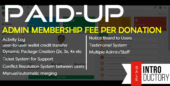 CodeCanyon PaidUp Peer-to-Peer Donation Membership Fee Transaction System 20921984