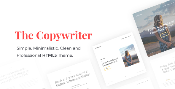 Download Free The Copywriter | Simple, Minimalistic, Clean and Professional HTML5 Theme