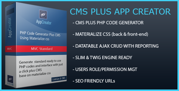 Source code              Hezecom CMS Plus PHP AppCreator with Materialized CSS            nulled