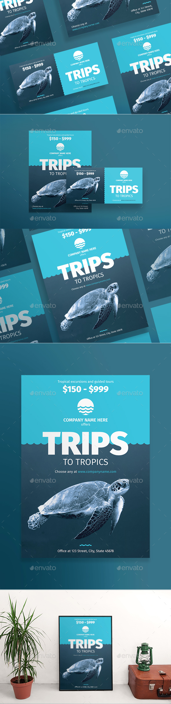 GraphicRiver Travel Flyers 20922089