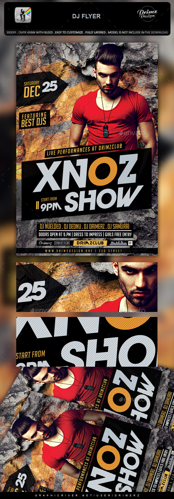 GraphicRiver DJ Flyer 20922272