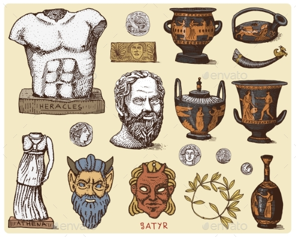 GraphicRiver Ancient Greece Antique Symbols 20922477