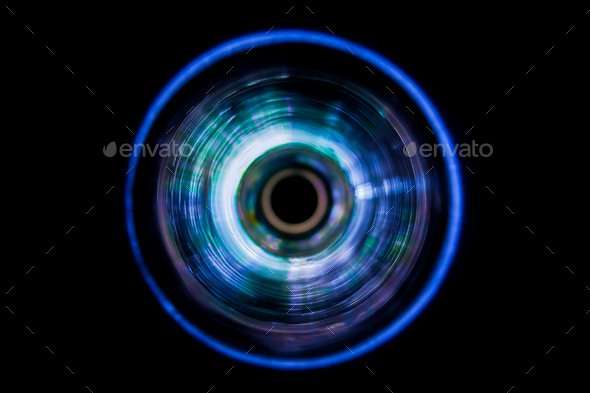 Sound waves in the dark - Stock Photo - Images