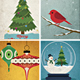 11 Vintage Christmas Card / Backgrounds