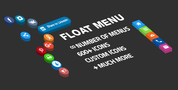 Floating side menu - easily creating awesome custom menu - CodeCanyon Item for Sale