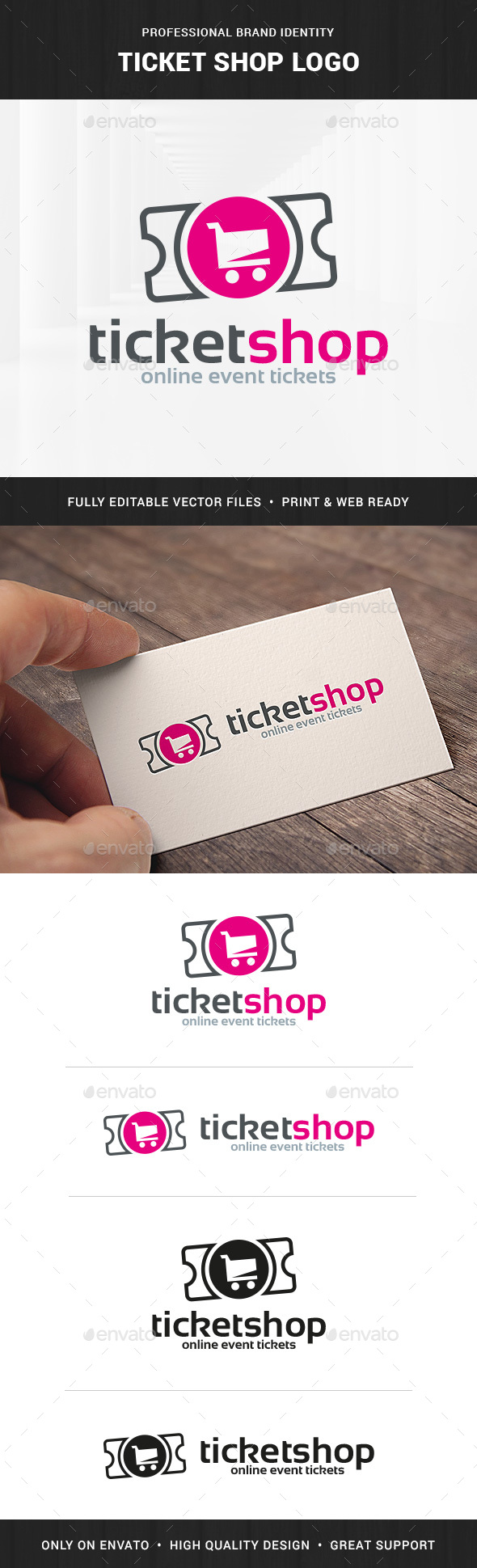 Ticket Shop Logo Template - Symbols Logo Templates