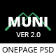 MUNI OnePage Personal PSD Template - ThemeForest Item for Sale