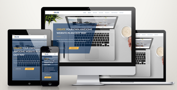 ThemeForest Solid Responsive Business Muse Template 20923253