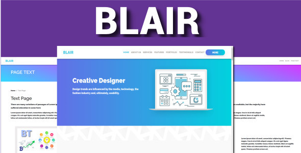 ThemeForest Blair One Page Bootstrap 4 VueJS 20852643