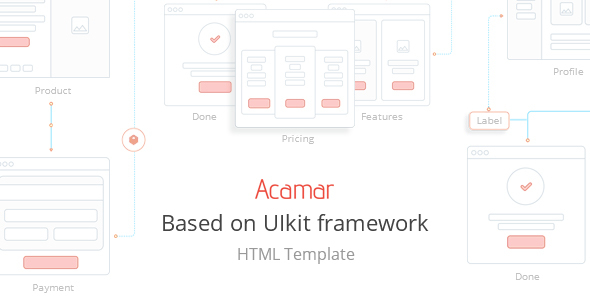 Acamar — Tiled Layout and Clean Design Responsive HTML Template