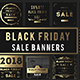 Golden Black Friday Sale Banners