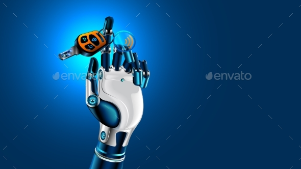 GraphicRiver Robot Hand with Car Key 20923910