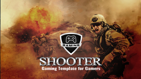 Gaming Shooter - War Game Template