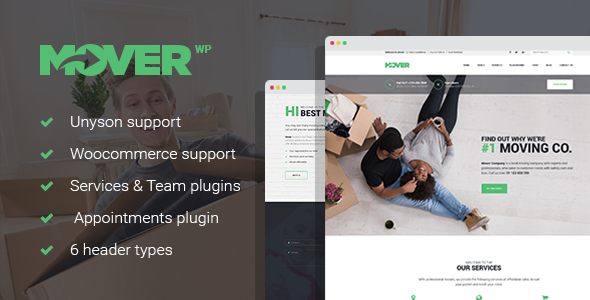 Mover - Delivery Services WordPress Theme