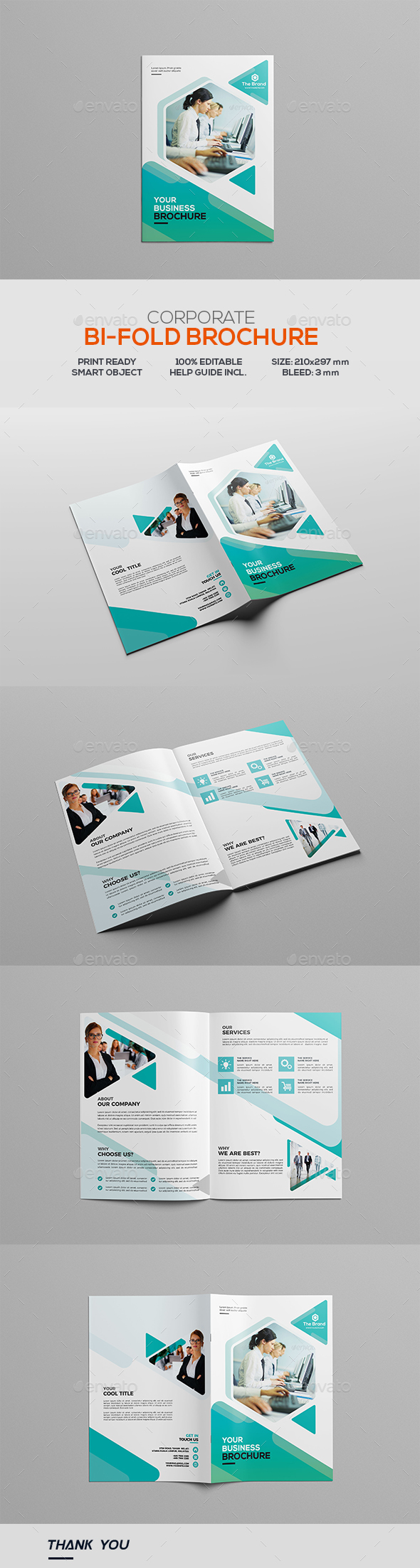 GraphicRiver Corporate Bifold Brochure 20923996