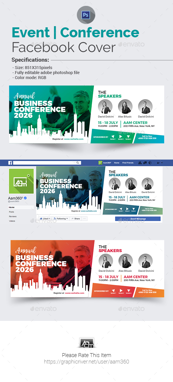 Business Event/Conference Facebook Cover - Facebook Timeline Covers Social Media