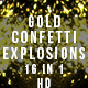Gold Confetti Explosions - VideoHive Item for Sale