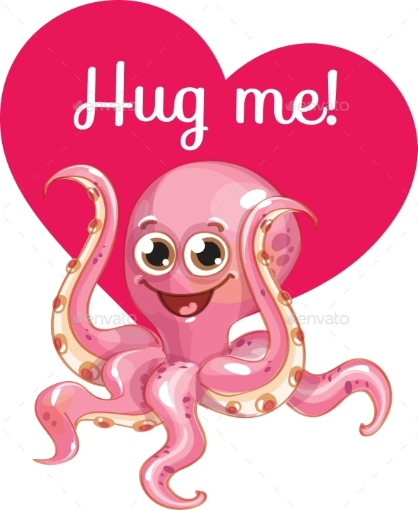 GraphicRiver Cartoon Octopus Ready for a Hugging 20924172