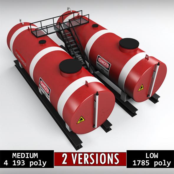 3DOcean Industrial oil tank double 20924371