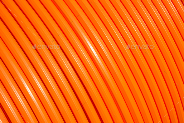 Fiber optic cable roll for broadband internet - Stock Photo - Images
