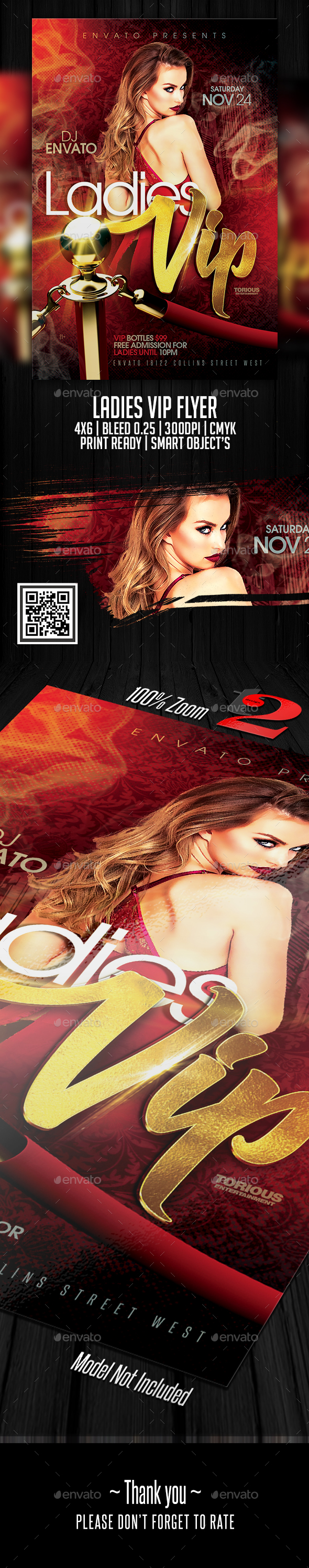 Ladies Vip Flyer Template - Clubs & Parties Events