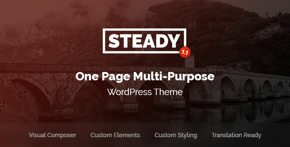 Steady - One Page Multi-Purpose WordPress Theme - Portfolio Creative