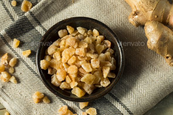 Sweet Organic Crystallized Ginger Candy - Stock Photo - Images