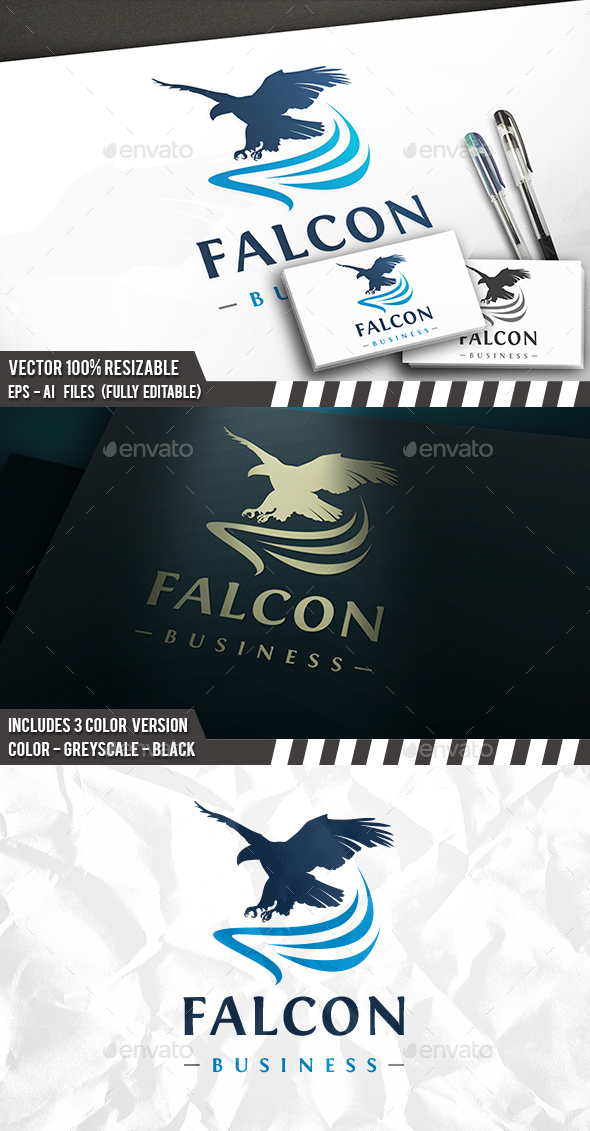 Falcon Flight Logo - Animals Logo Templates