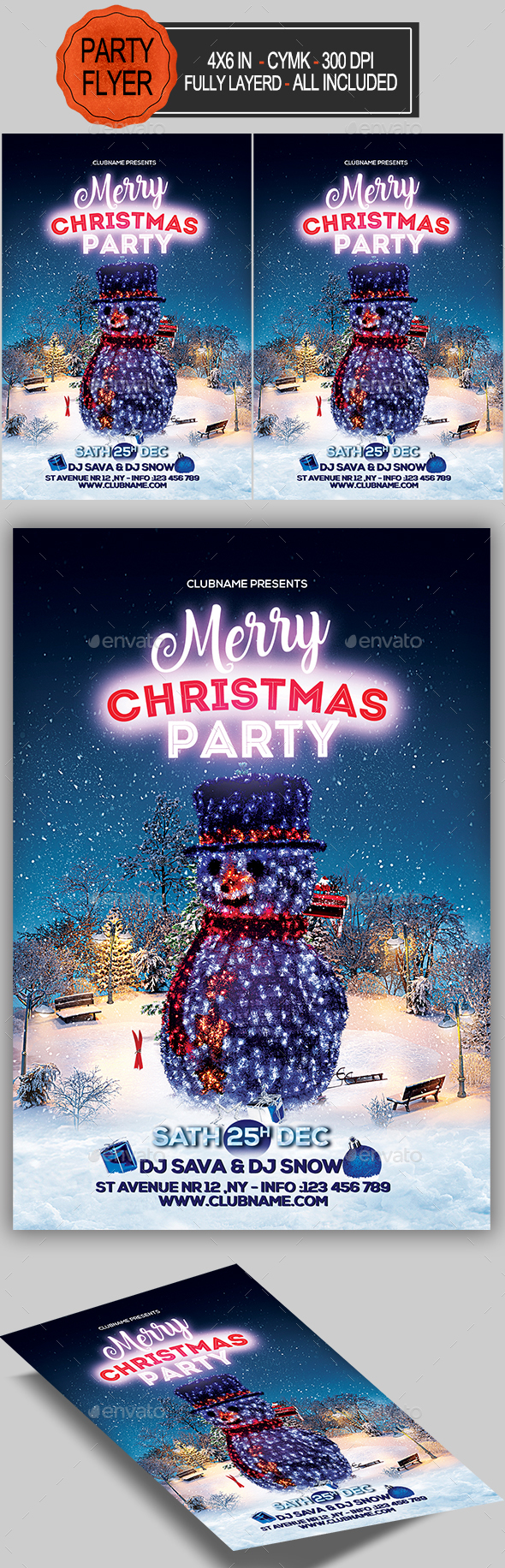 Merry Christmas Flyer - Holidays Events