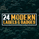 24 Modern Label and Badges