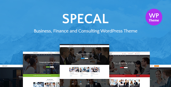 Specal - Financial, Consulting WordPress Theme - Business Corporate