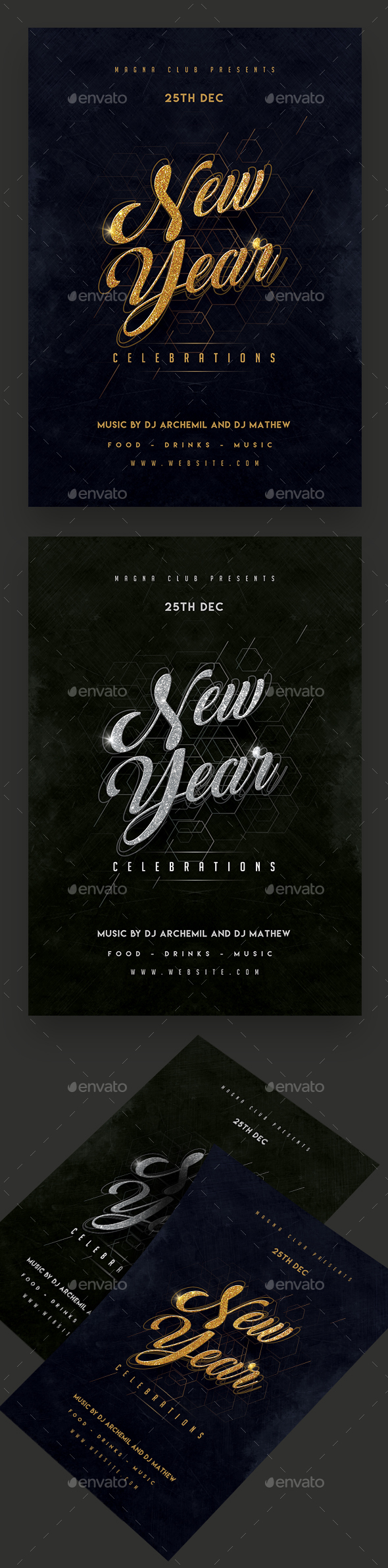 New Year Celebration Party Flyer - Clubs & Parties Events