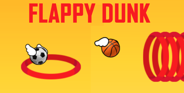 Flappy Ball dunk  - ios - CodeCanyon Item for Sale